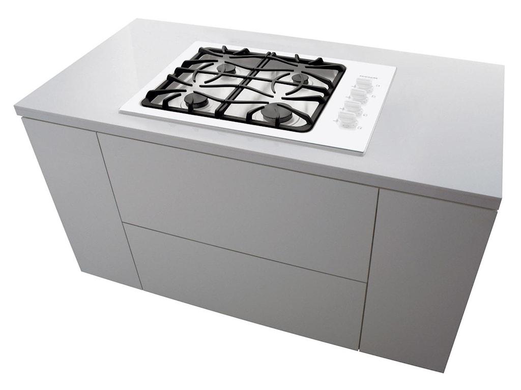 Cooktop Mounts Stylishly in Kitchen Countertop