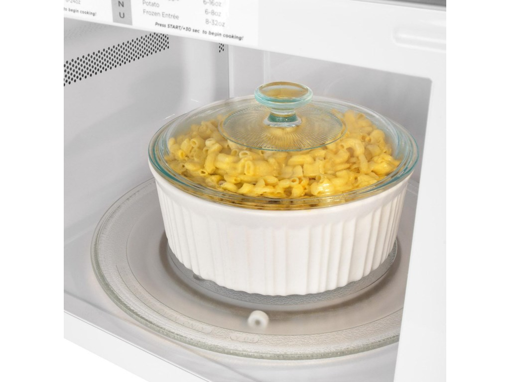 The Glass Turntable Plate Provides a Level Cooking Surface that Cooks Food Evenly and Maximizes Usable Capacity