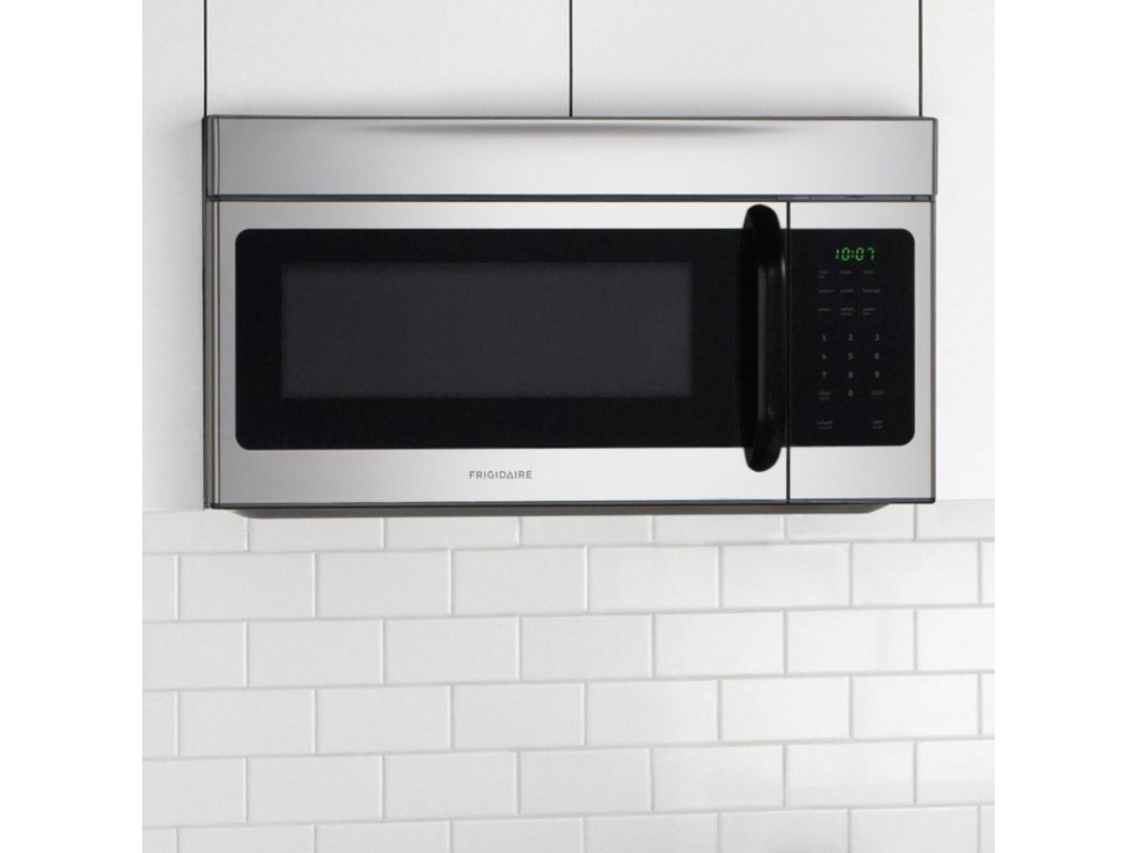 Over-the-Range Microwave Doubles as a Hood with 2 Fan Speeds