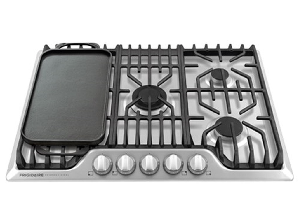 30 Frigidiare Professional Gas Cooktop With Griddle By Frigidaire Collection Cooktops