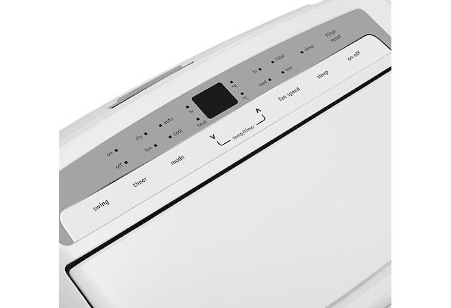 Frigidaire Room Air Conditioners 12 000 Btu Portable Room Air Conditioner With Supplemental Heat Vandrie Home Furnishings Ac 9000 12000 Btu S