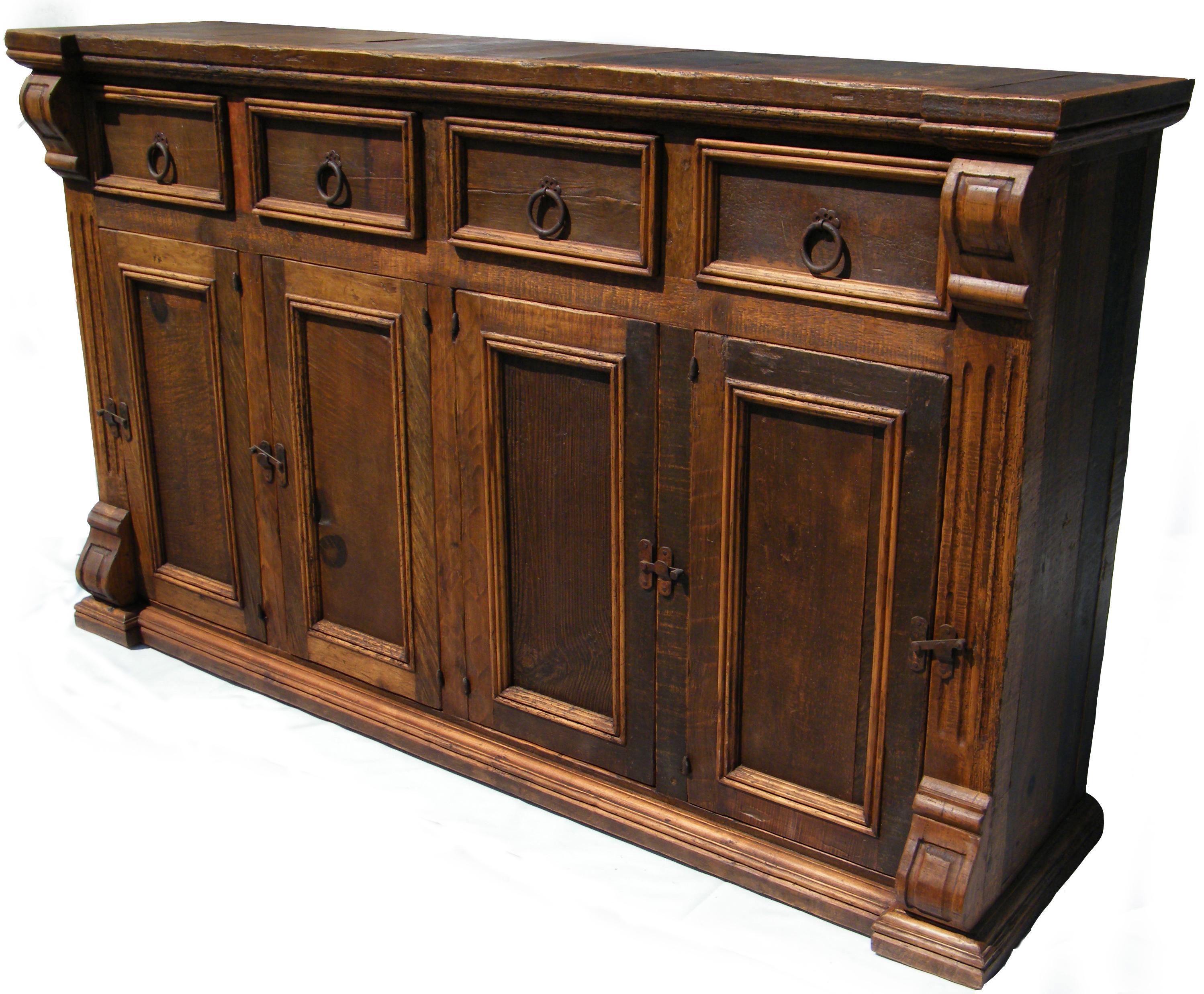 Genial Furniture Source International Logan Traditional 4 Drawer 4 Door Dining  Buffet