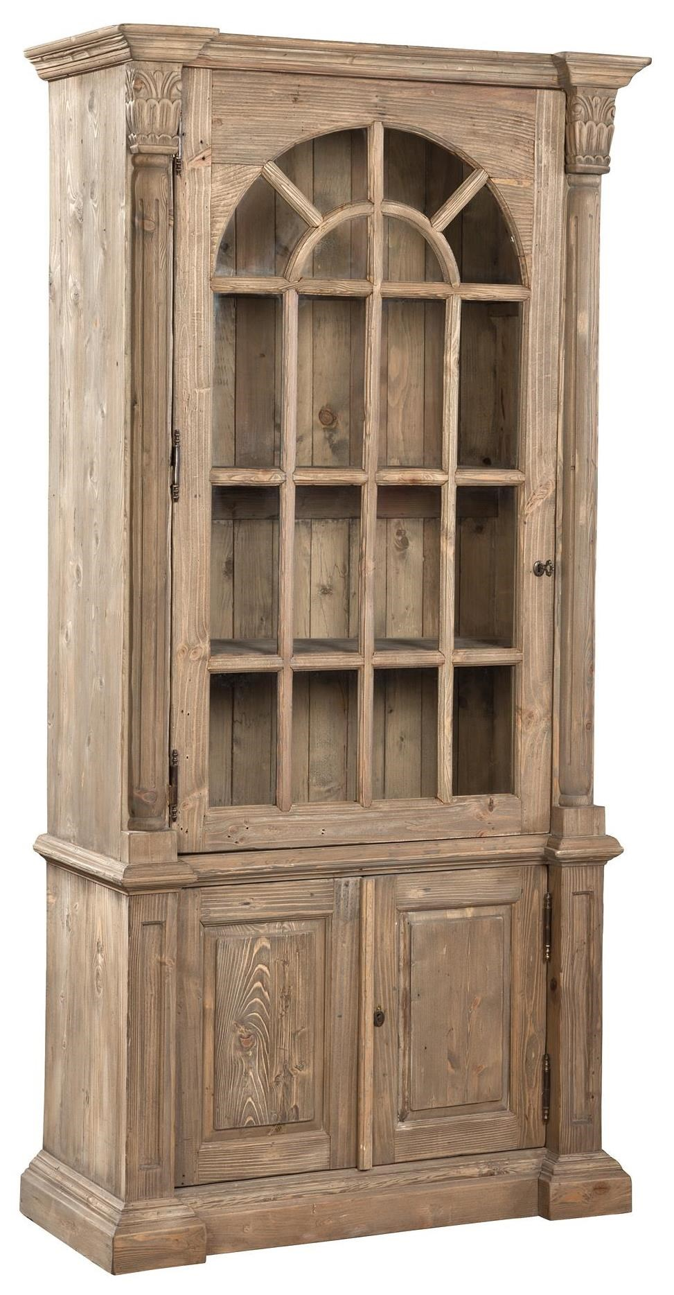 Accents Arched Pine Bookcase