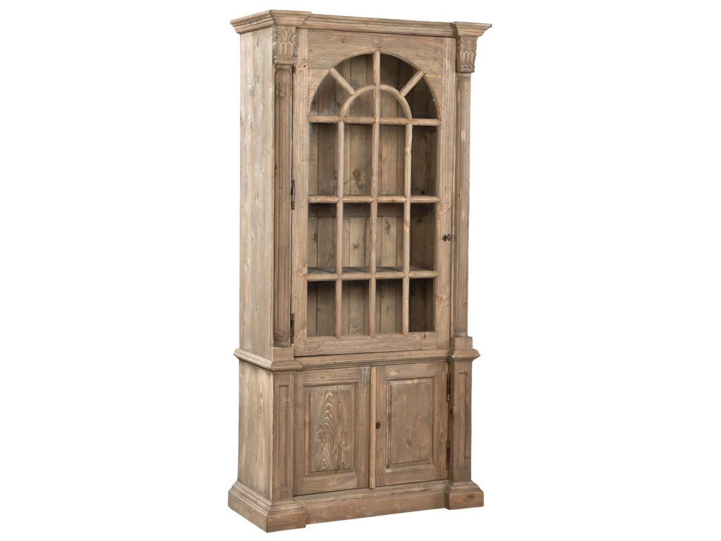 Accents Arched Glass Door Solid Pine Bookcase By Furniture Classics At Pilgrim Furniture City