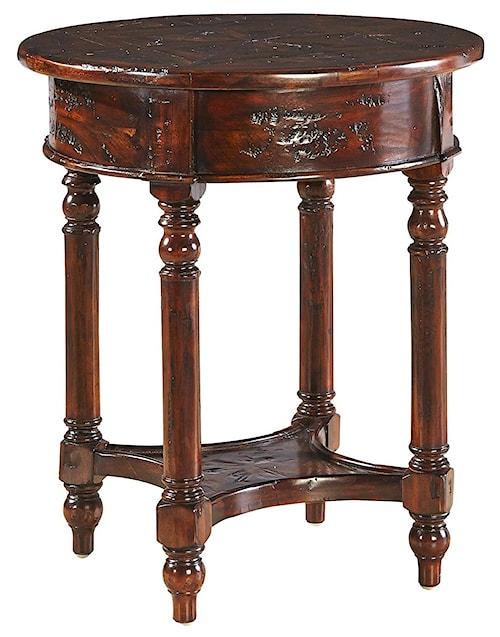 Furniture Classics Accents Distressed Mahogany Old Fashioned Martini Table