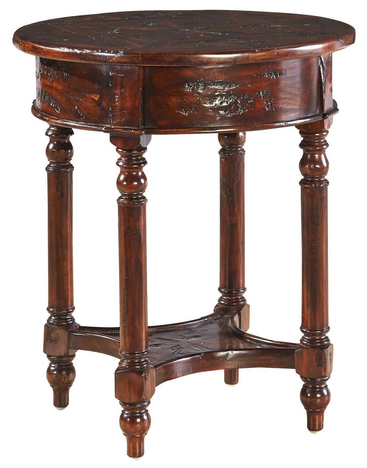 Accents Distressed Mahogany Old Fashioned Martini Table By Furniture  Classics