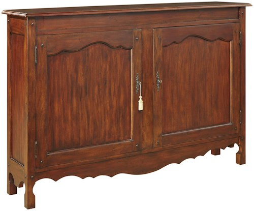 Furniture Classics Accents Solid Pine Hall Chest with Scalloped Apron