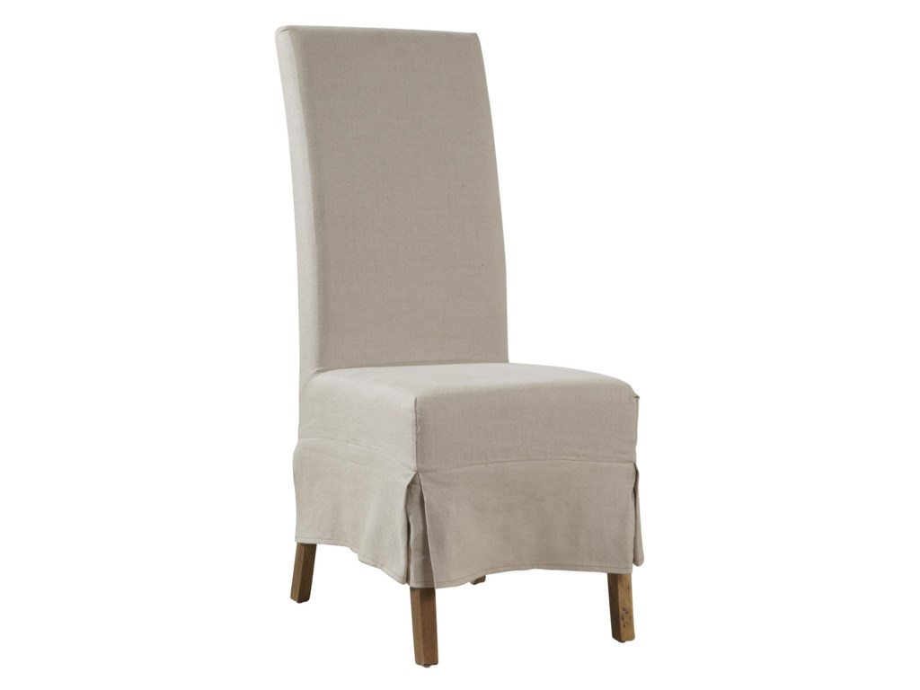 Furniture Classics AccentsLinen Slip Covered Parsons Chair