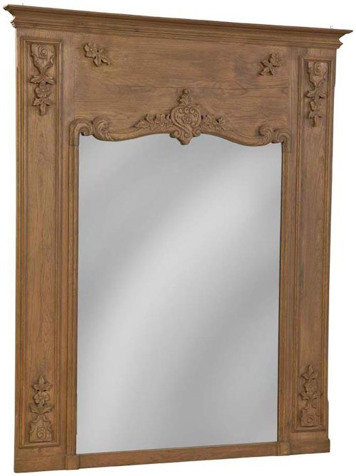 Furniture Classics Accents Traditional Carved Reclaimed Mirror
