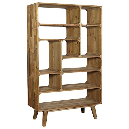 Furniture Classics Accents Reclaimed Pine Mid-Century Modern Tetris Bookcase