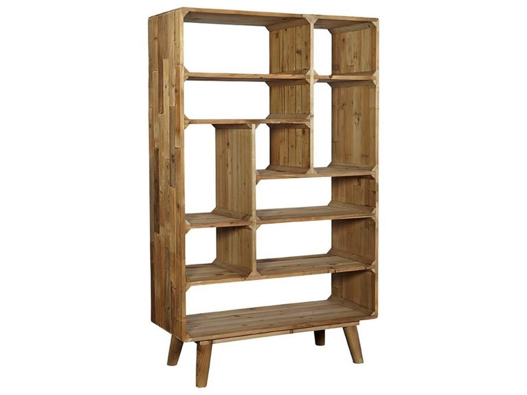 Accents Reclaimed Pine Mid Century Modern Tetris Bookcase By Furniture Classics At Pilgrim Furniture City