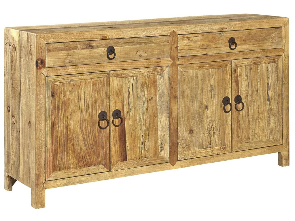 Accents Solid Wood Old Elm Sideboard By Furniture Classics At Pilgrim Furniture City