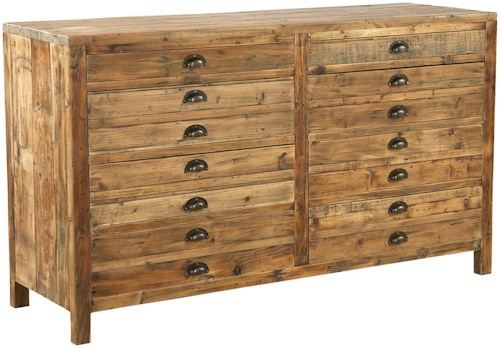 Furniture Classics Accents Reclaimed Wood Medium Apothecary Chest