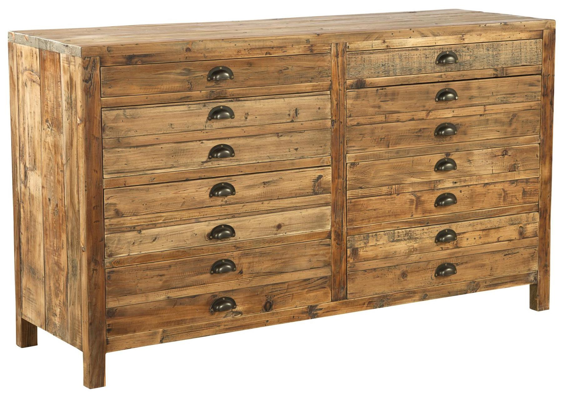 Accents Reclaimed Wood Medium Apothecary Chest By Furniture Classics