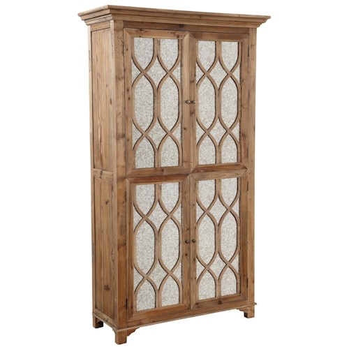 Furniture Classics Accents Antique Mirror Cabinet with Reclaimed Elm