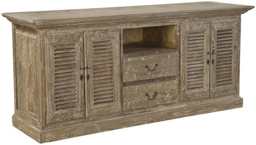 Furniture Classics Accents Reclaimed Wood Hilton Media Sideboard with Louver Doors