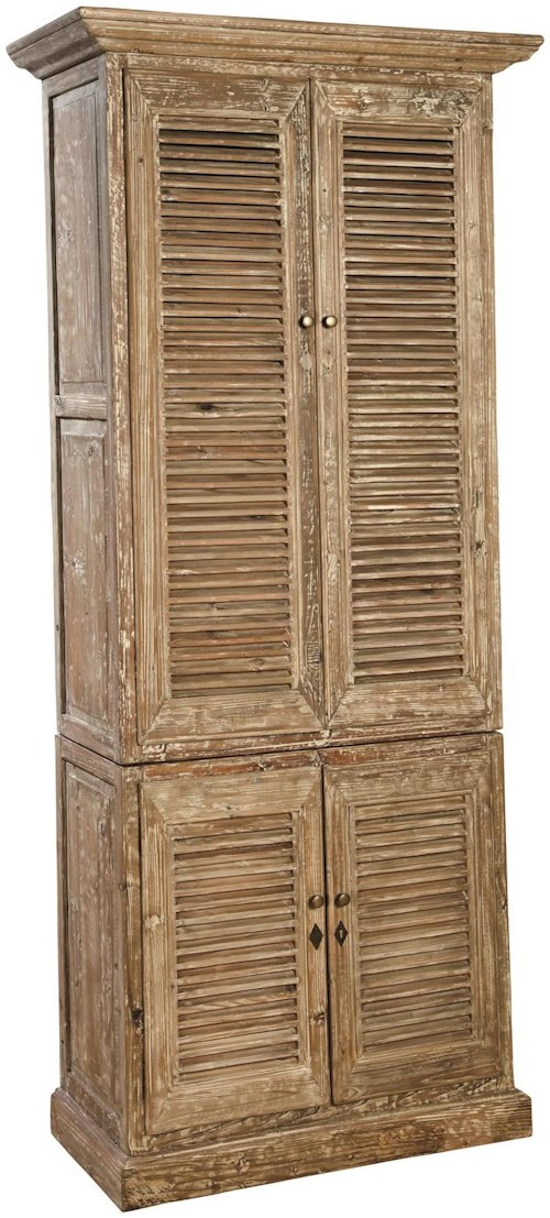 Furniture Classics Accents Rustic Reclaimed Wood Hilton Linen Cabinet