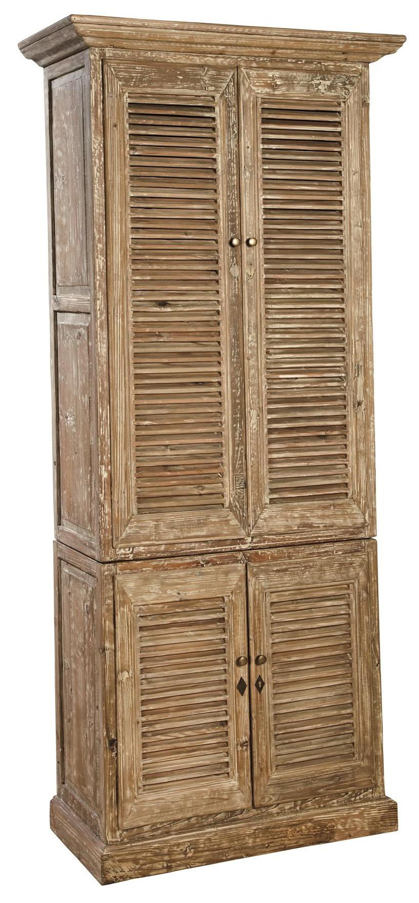 Attractive Accents Rustic Reclaimed Wood Hilton Linen Cabinet By Furniture Classics
