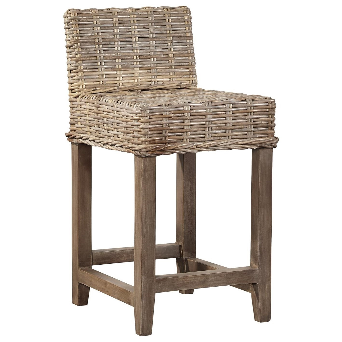 Superieur Furniture Classics Bar And Counter Stools Baxter Counter Stool With Woven  Kubu