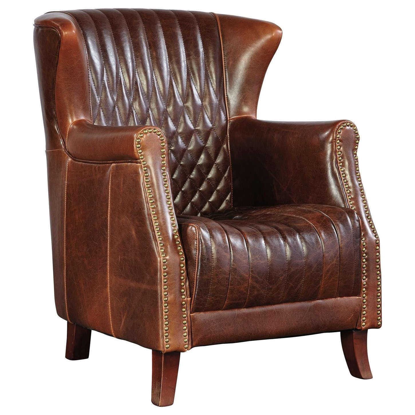 Furniture Classics Occasional Chairs Leather Paris Flea Market Chair With  Wing Back