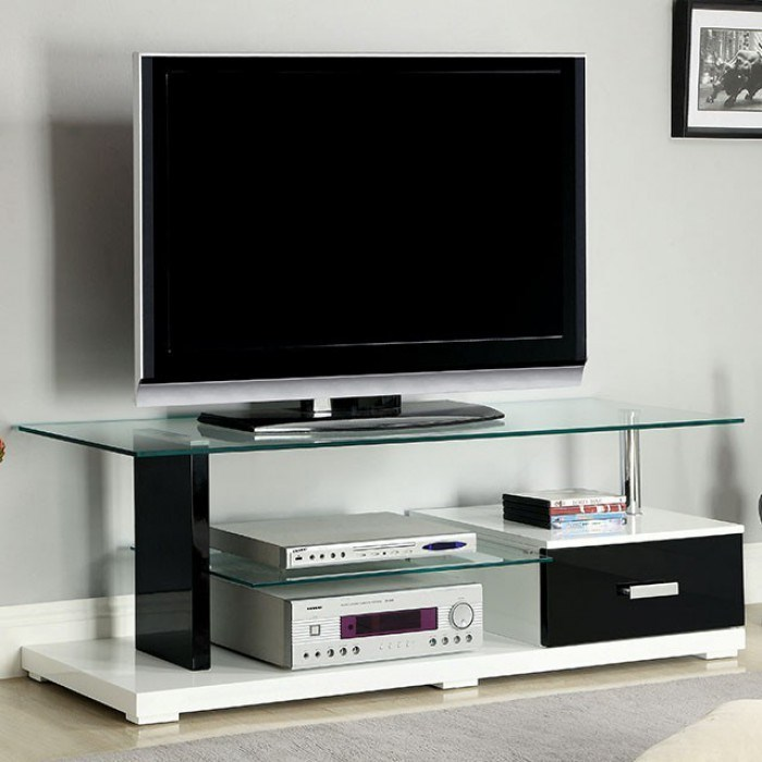 Furniture of america egaleo contemporary tv console with drawer