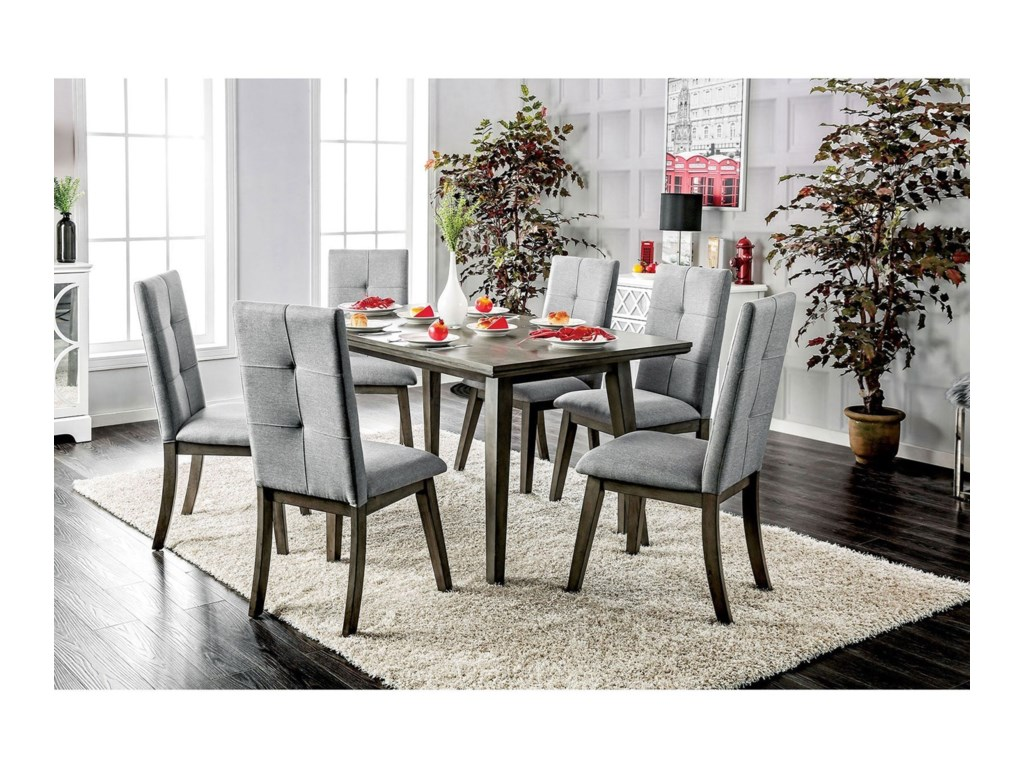 Furniture of America AbeloneTable + 6 Chairs