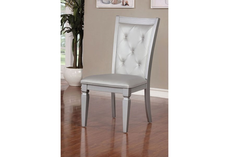 Furniture Of America Foa Alena Cm3452sc 2pk Pack Of 2 Side Chairs With Tufted Back Del Sol Furniture Dining Side Chairs
