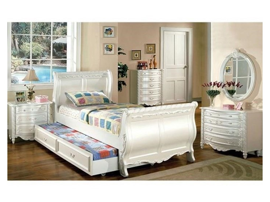 FUSA AlexandraFull Sleigh Trundle Bed
