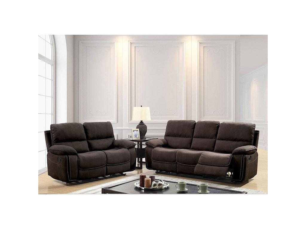 Furniture of America AmarisReclining Living Room Group