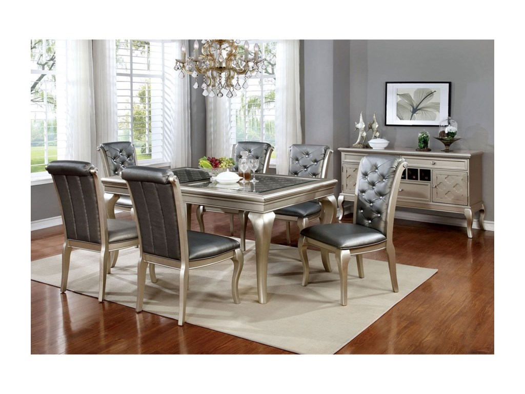 FUSA Amina7 Piece Dining Set