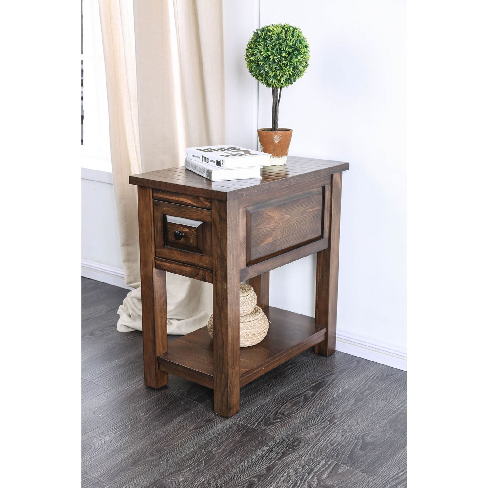 Superbe Annabel Transitional Side Table By Furniture Of America
