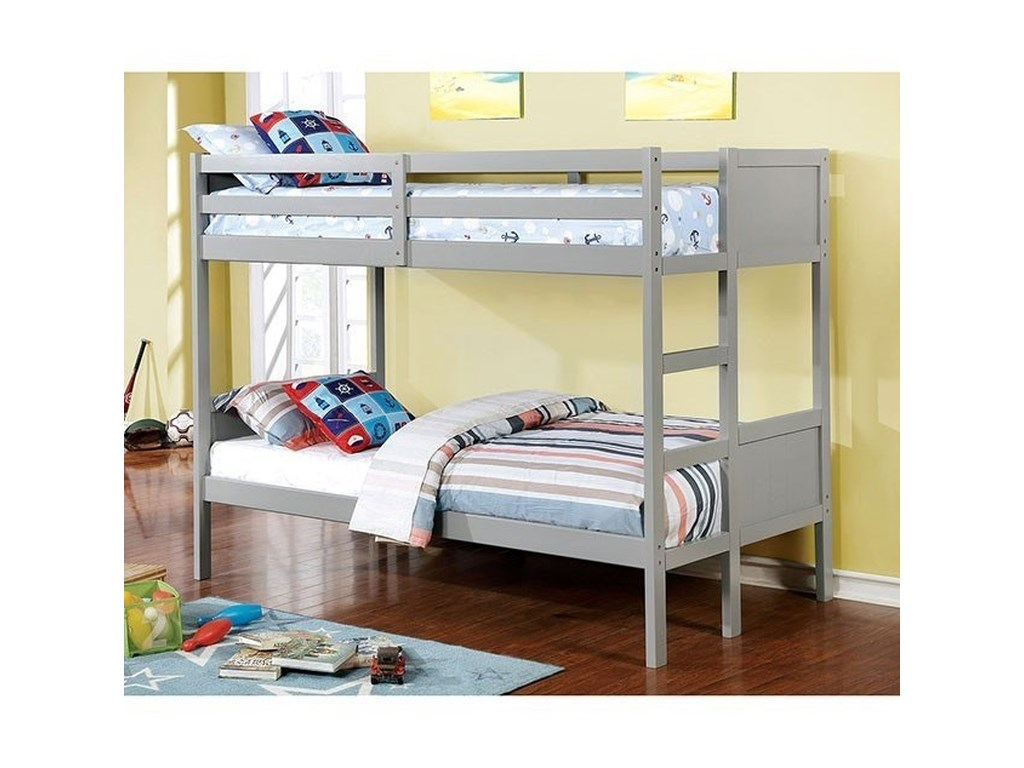 FUSA AnnetteFull over Full Bunk Bed