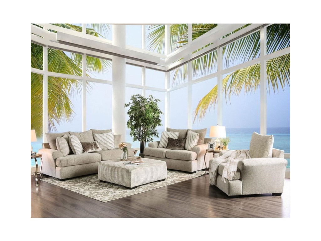 FUSA AntheaStationary Living Room Group