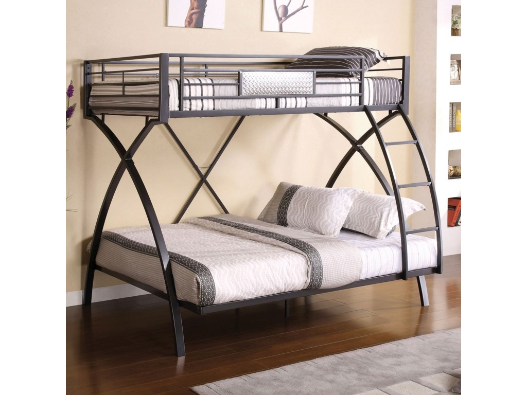 Metal Twin Over Full Bunk Bed
