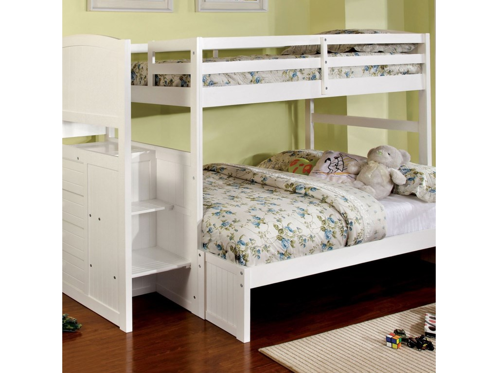Furniture of America AppenzellTwin/Full Bunk Bed
