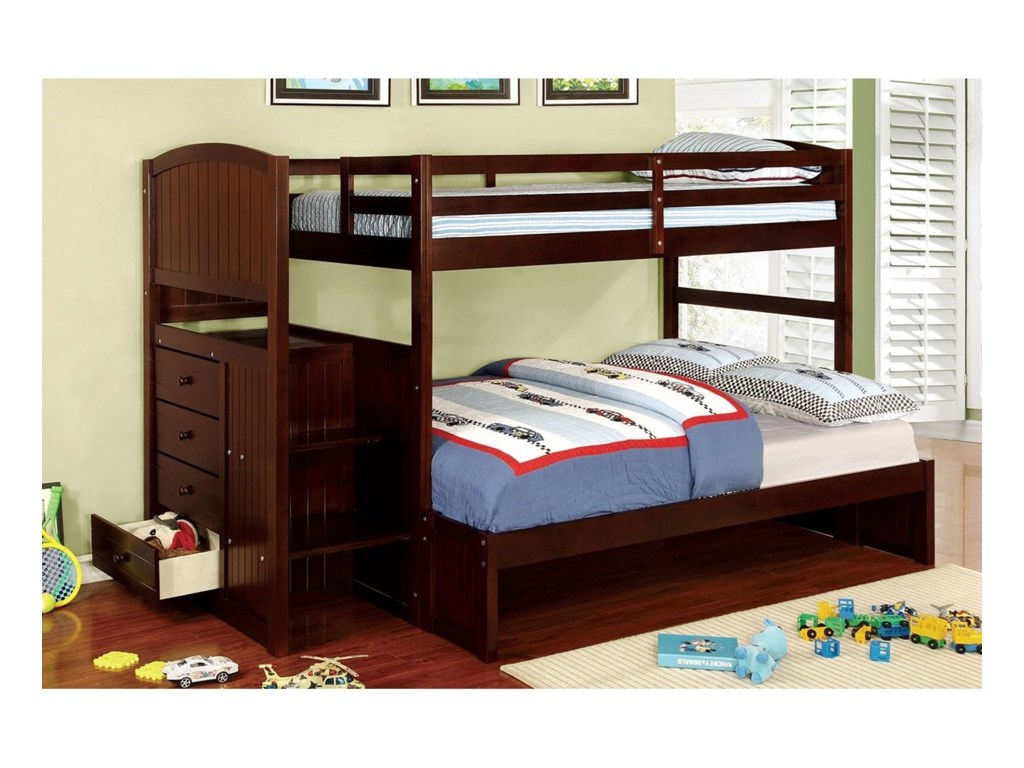 Furniture Of America Appenzell Twin Full Bunk Bed Rooms For Less