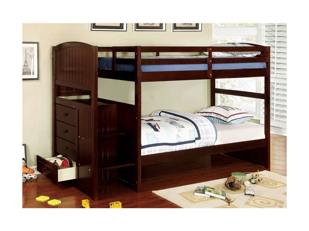 FUSA AppenzellTwin/Twin Bunk Bed