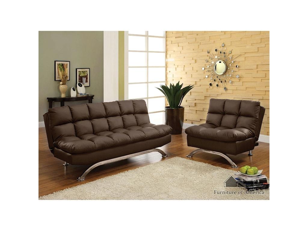 FUSA AristoLeatherette Futon Sofa