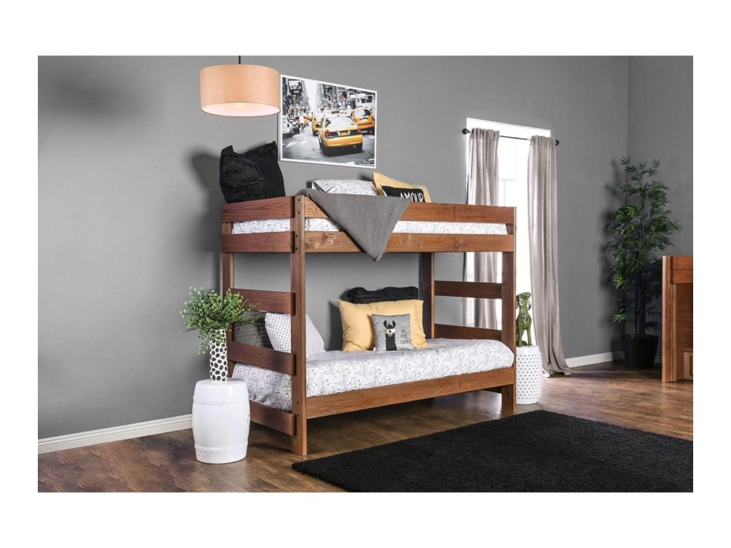 FUSA ArletteTwin/Twin Bunk Bed