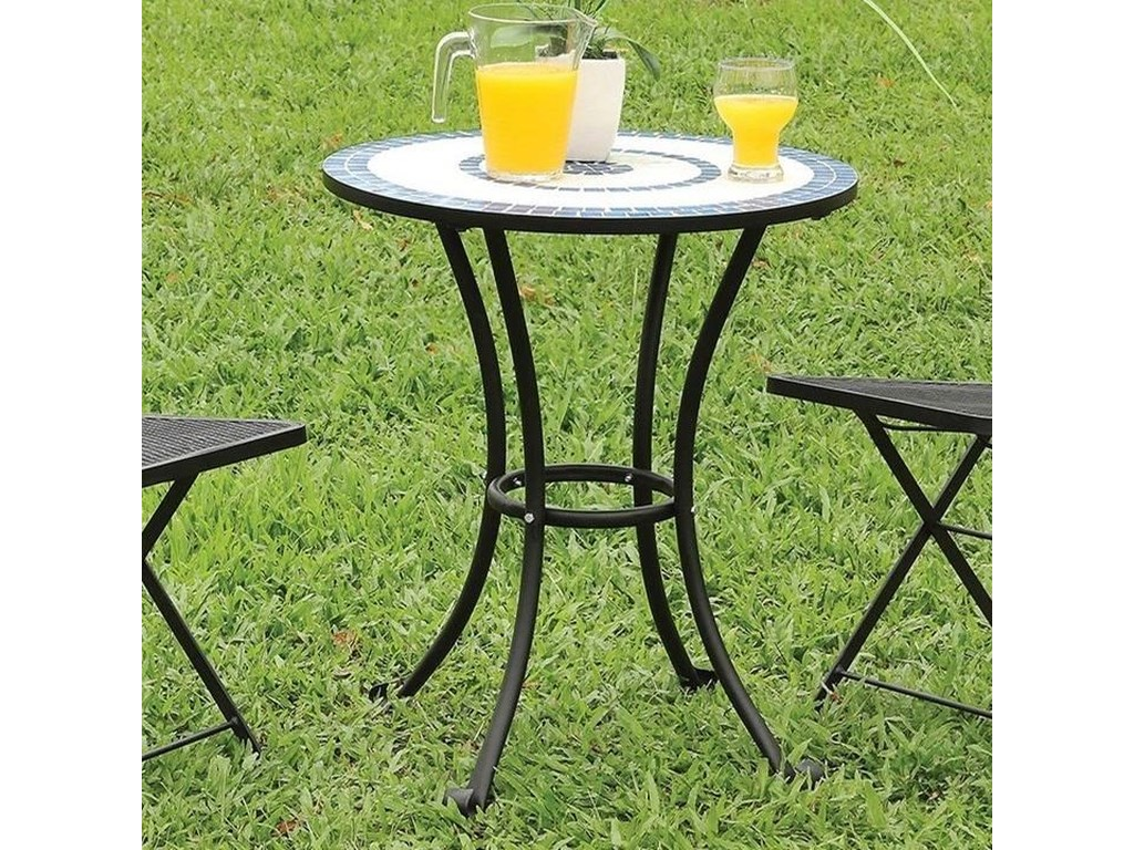 Aster Metal Table With Mosaic Top By Furniture Of America At Rooms For Less
