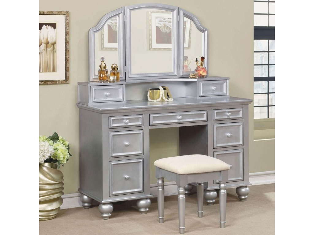 Furniture of America AthyVanity w/ Stool
