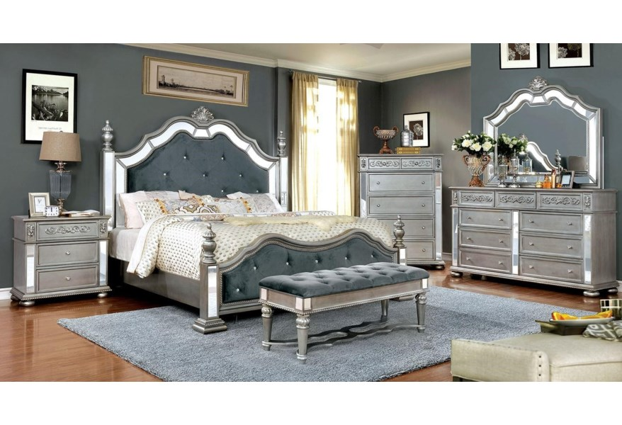 Furniture Of America Azha Lavish Traditional Style California King Bedroom Group 2 Dream Home Interiors Bedroom Groups