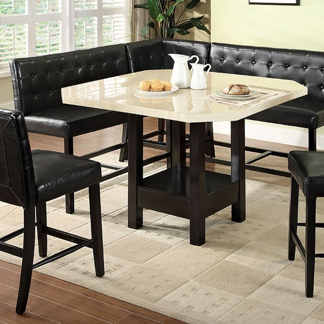 Faux Marble Top Counter Height Dining Set