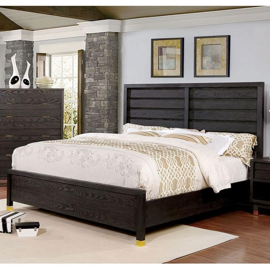 Furniture Of America Bailey Cm7510ek Bed Contemporary King
