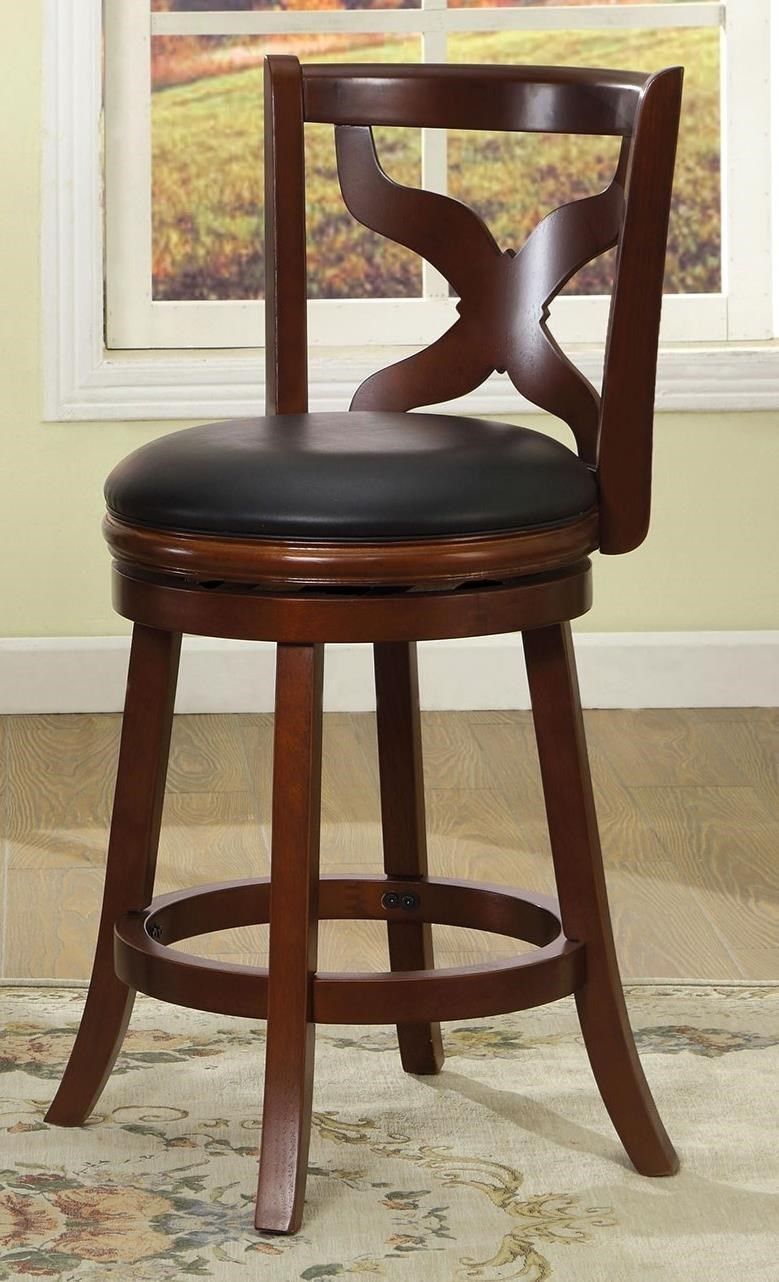 Furniture Of America Baltic 24 Swivel Bar Stool Rooms For Less