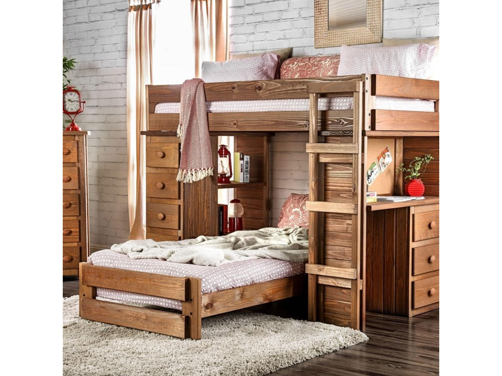 Furniture Of America Beckfordtwin Twin Loft Bed