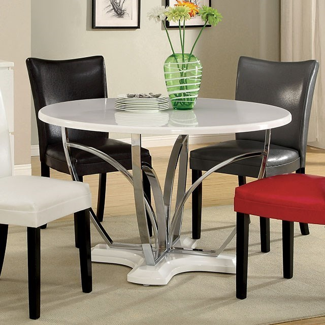 Furniture of America BellizTable + 4 Chairs (Black, Or Red)