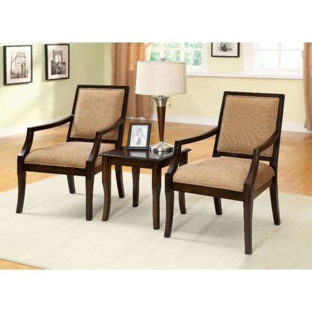 3 Pc. Accent Table Chair Set