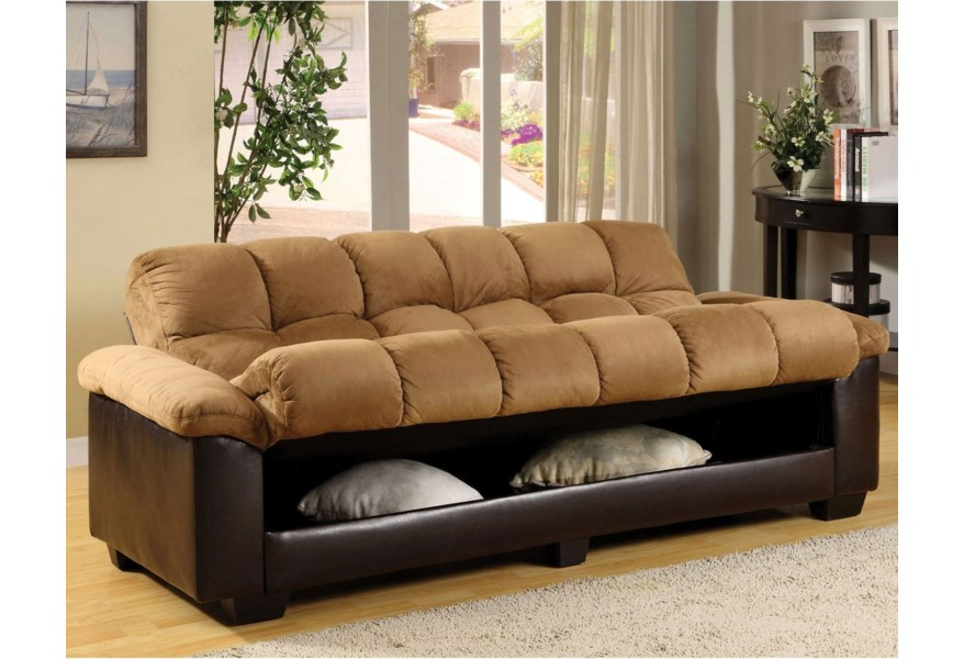 Convertible Microfiber Sofa Bed