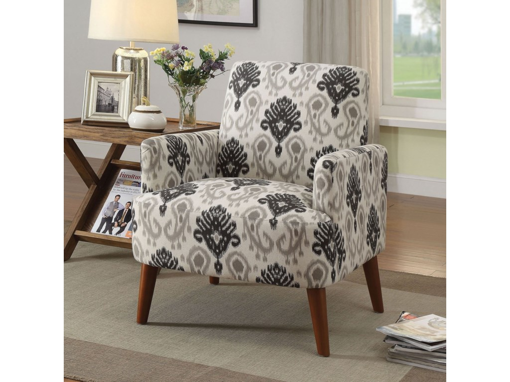 America Accent Chairs.Bray Accent Chair By Furniture Of America At Del Sol Furniture